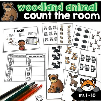Count the Room Numbers 1-10 | Woodland Animal Theme |