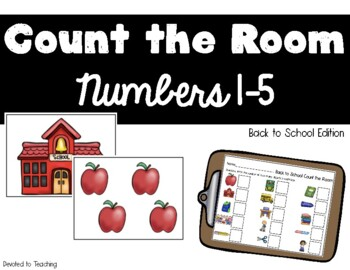Count the Room Numbers 1-5 Back to School