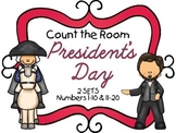 Count the Room - President's Day {K.CC.A.3 & K.NBT.A.1}