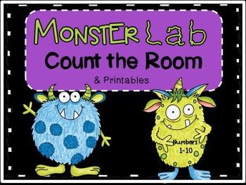 Halloween Count the Room & Printables-Monster Lab theme (C