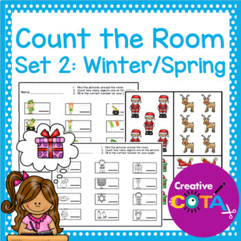Number Identification and Writing: Count the Room Set 2 Winter/Spring