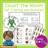 Number Identification and Writing: Count the Room Set 3 Spring and Summer