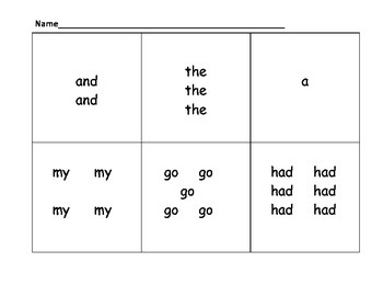 Count the Room Sight Words #1