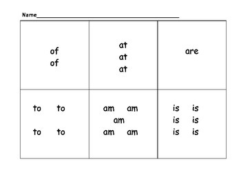 Count the Room Sight Words #2