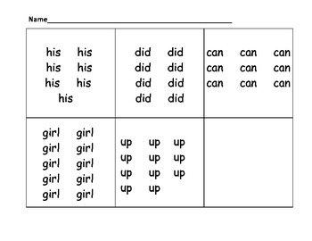 Count the Room Sight Words #3