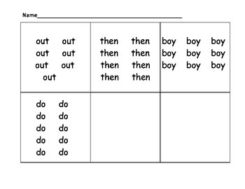 Count the Room Sight Words #5