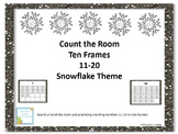 Count the Room Snowflake Theme: Ten Frames 11-20