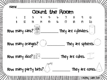 Count the Room Solid Shapes