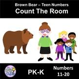 Count the Room Teen Numbers - Brown Bear