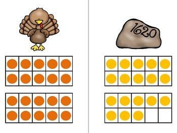 Count the Room - Thanksgiving {K.CC.A.3 & K.NBT.A.1}