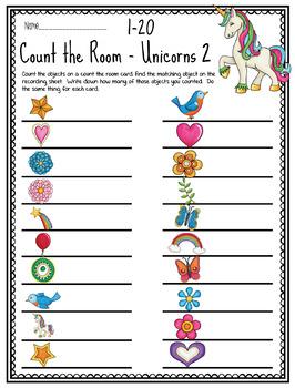 Count the Room - Unicorns - Set 2 - 10 Frames