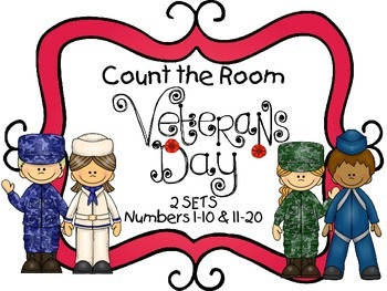 Count the Room - Veteran's Day {K.CC.A.3 & K.NBT.A.1}