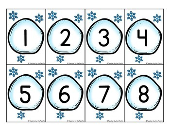 Count the Room – WINTER Math – Ten Frames and Numbers 1 - 10