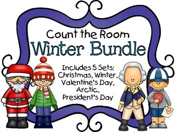 Count the Room - Winter BUNDLE {K.CC.A.3 & K.NBT.A.1}