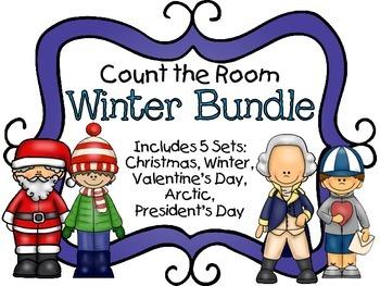 Count the Room - Winter BUNDLE {K.CC.A.3 & K.NBT.A.1}