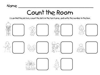 Count the Room - Winter {K.CC.A.3 & K.NBT.A.1}