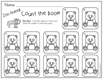 Count the Room - Zoo Animals