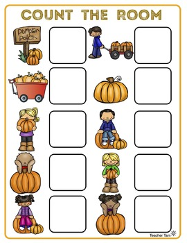 Kindergarten Count the Room BUNDLE for ALL YEAR!