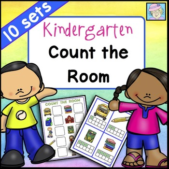 Count the Room Kindergarten Math Centers for ALL YEAR