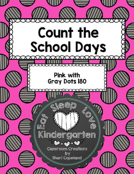 Count the School Days-Pink and Gray Checkerboard 180