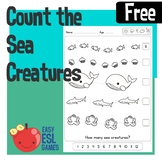 Count the Sea Creatures free Worksheet