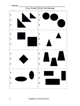 Count the Shapes! Circle the Answer 1-10