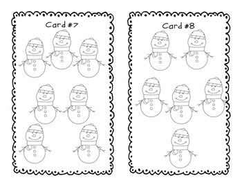 Counting Game - Count the Snowman - SCOOT - PreK-K