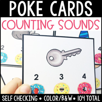 Count the Sounds/Segmenting Self Checking Poke Cards