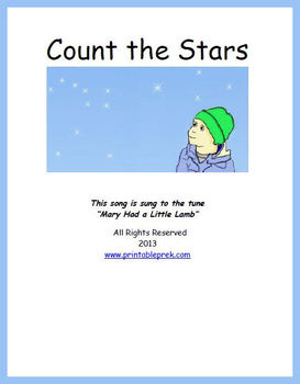 Sing this little song about star-gazing to practice counting. This download includes counting cards, a mini-songbook to take home, and a big and little star sorting activity.
