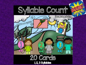 Count the Syllables: Digital Task Cards  ** Boom Cards **