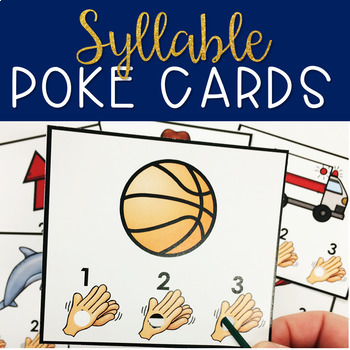 Count the Syllables Self Checking Poke Cards