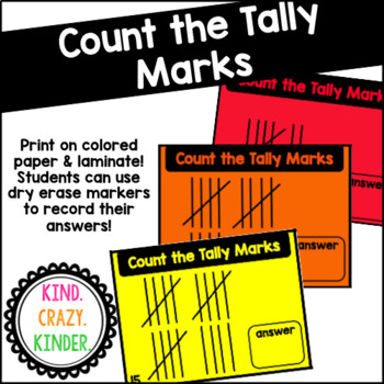 Count the Tally Marks Task Cards