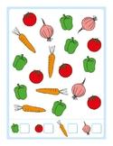 Count the Vegetables Worksheet