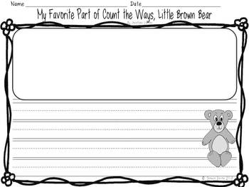 Favorite Part inspired by Count the Ways, Little Brown Bear