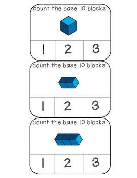 Count the base 10 blocks numbers 1-20 and 100 clothespin a