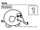 Count the elephants and color math worksheets