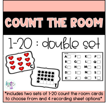 Count the room 1-20 DOUBLE PACK! Two versions/4 recording sheets!