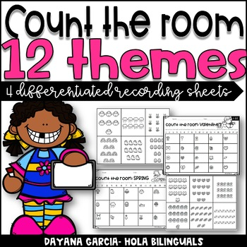 Count the room- 9 themes (ink saving)