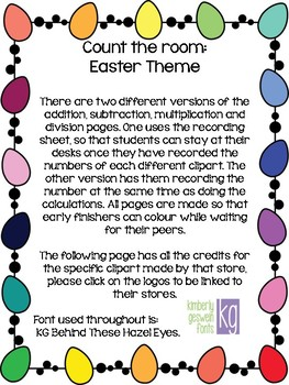 Count the room: Easter Theme (FRENCH AND ENGLISH)
