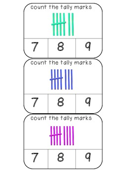 Count the tally marks numbers 1-20 clothespin activity cards