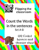 Count the words in sentences: Self paced lesson/ activity