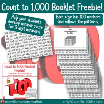 Count to 1,000 Booklet Freebie