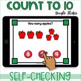 Count to 10 Apples Kindergarten GOOGLE Classroom distance