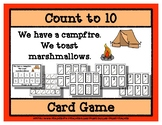 Count to 10 Card Game - Campfire & Marshmallows - Camping