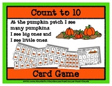Count to 10 Card Game - Pumpkin Patch