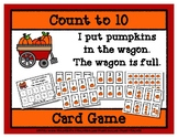 Count to 10 Card Game - Pumpkin Wagon