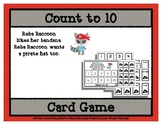 Count to 10 Card Game - Reba Raccoon Pirate