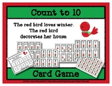 Count to 10 Card Game - Red Bird Loves Winter
