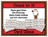 Count to 10 Card Game - Santa - Cookies and Hot Chocolate