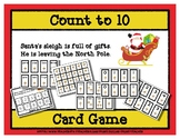 Count to 10 Card Game - Santa Sleigh